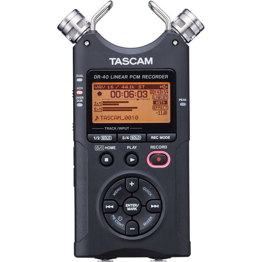 Tascam DR-40 Portable Handheld Digital Audio Recorder