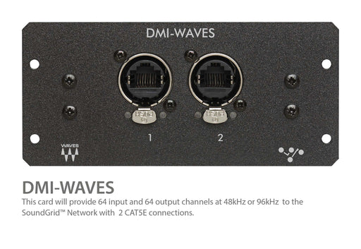 "Digico DMI WAVES SOUND GRID 64 Ch. I/O ""W"" expansion card for Digico S Series Consoles (MOD-DMI-WAVES)"