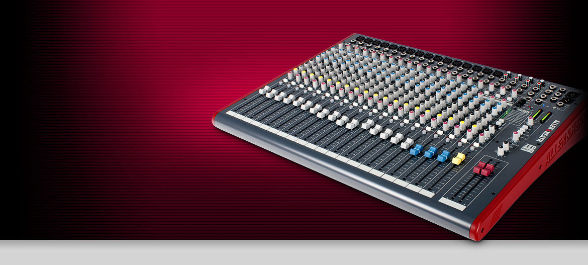 Allen & Heath AH-ZED22FX 16 mic/line+ 4 stereo, 4 aux sends, 3 band swept mid EQ, 2 x 2 USB, I/O 100mm faders with 24 bit effects (Email for D.O'B. Sound Pro Price)
