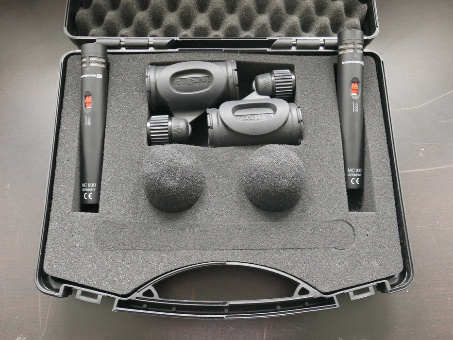 Beyerdynamic MC 930 Stereo Set Small-Diaphragm Cardioid Condenser Microphone, Studio Pair