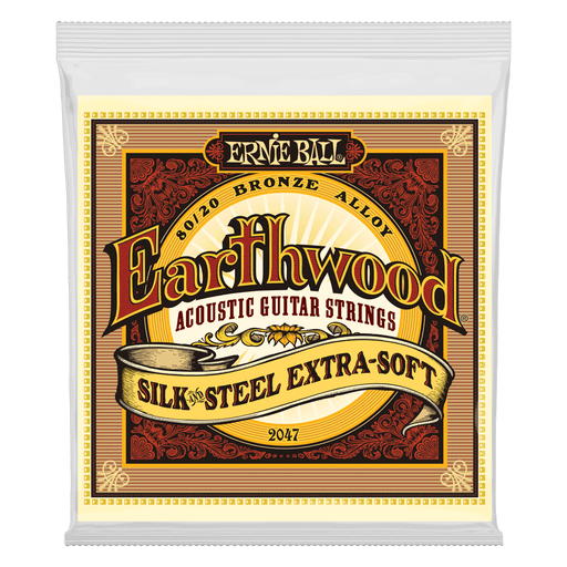 Earthwood 80/20 Bronze Silk and Steel Extra Soft Acoustic Guitar Strings (2047)