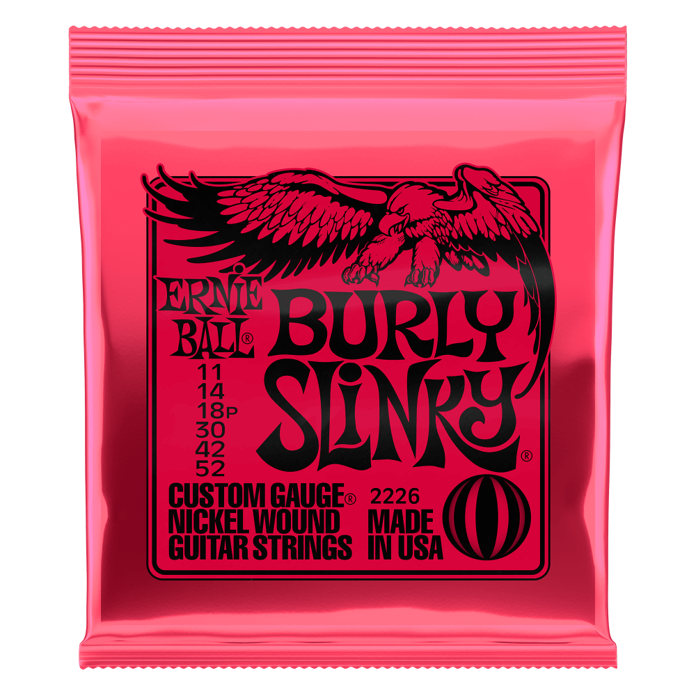 Ernie Ball Burly Slinky Electric Guitar Strings (11-52) 2226