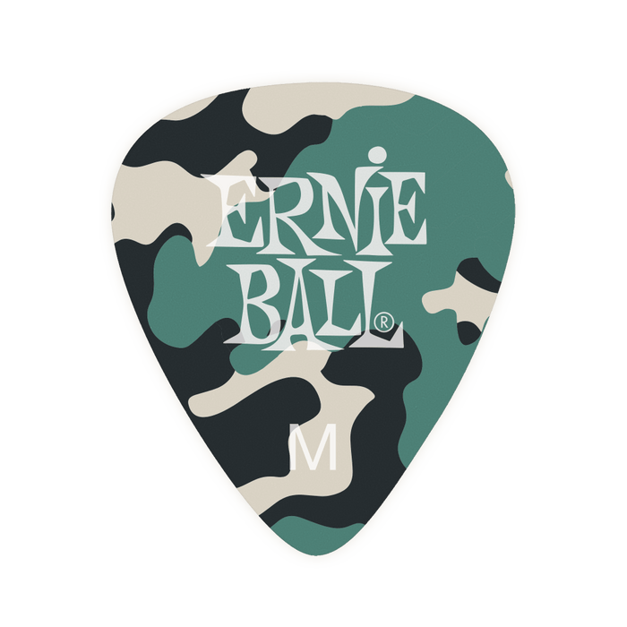 Ernie Ball Medium Camouflage Cellulose Picks (Pack of 12) 9222