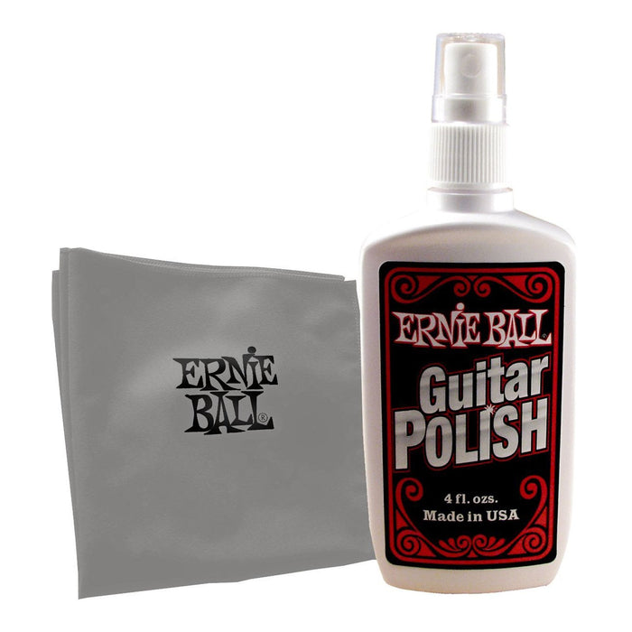 Ernie Ball Guitar/Bass Polish and Cleaner with Microfiber Cloth
