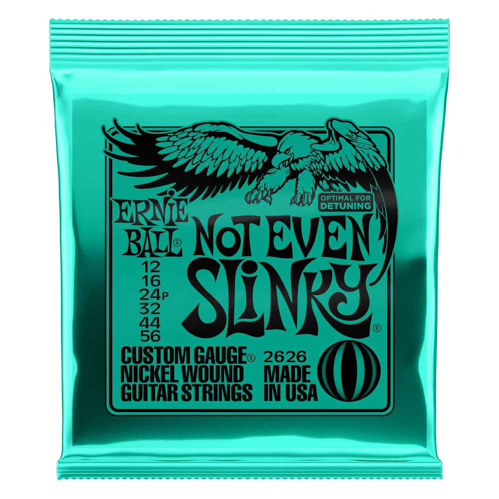 Ernie Ball Not Even Slinky Electric Guitar Strings (12-56) 2626