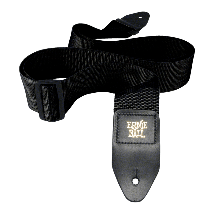 "Ernie Ball 2"" Poly Pro Strap (Black) 4037"