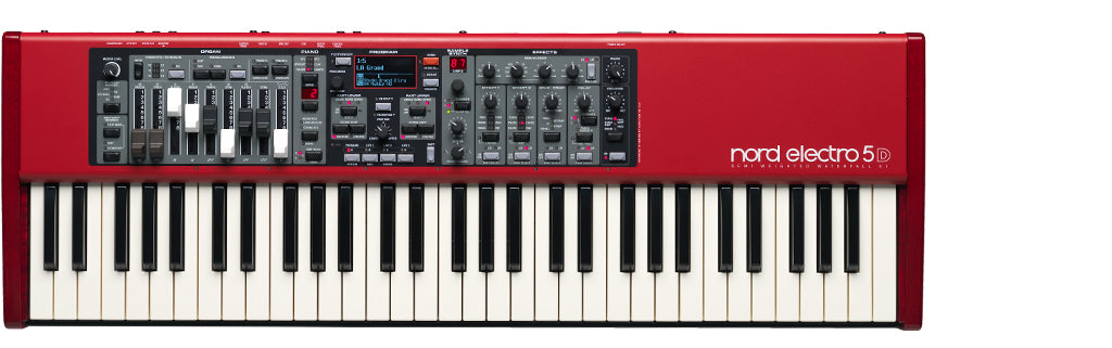 Nord 61 Note Electro 5D 61 key semi-weighted action, with nine physical drawbars