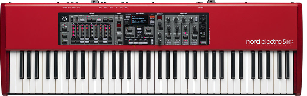 "Nord Electro 5HP 73-key ""Hammer-Action Portable"" keybed with nine digital drawbars"
