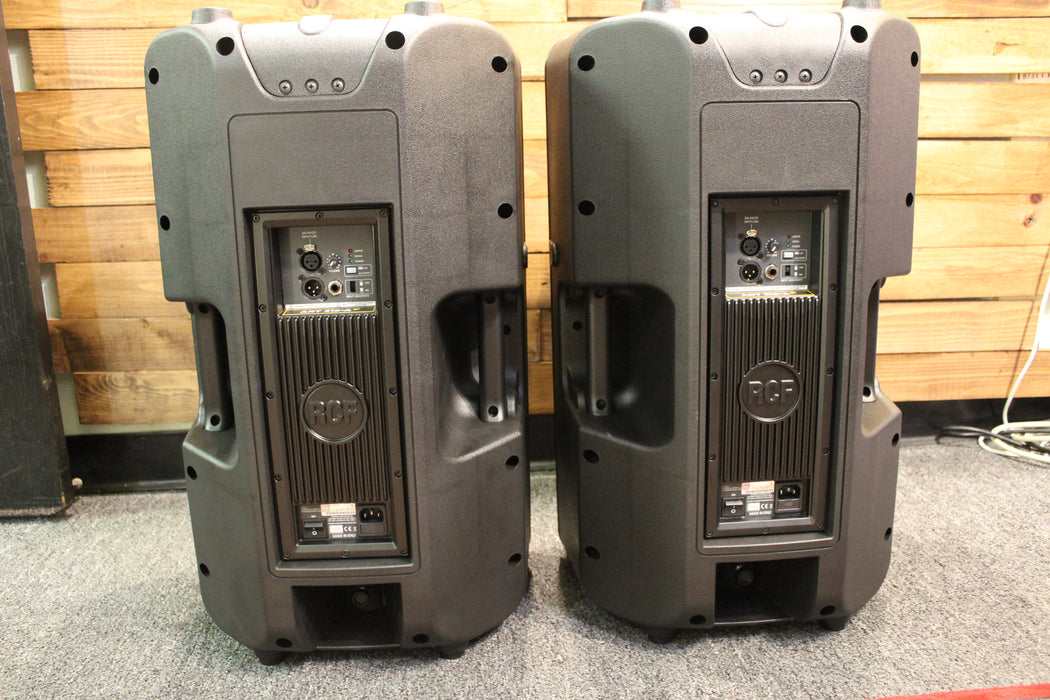 RCF ART-312A MK4 Active 2 Way Speakers (A PAIR) with (2) Speaker Covers