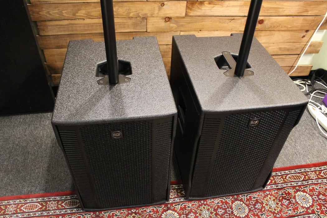 RCF Evox 12 Active Compact Portable 2 Way PA System (Certified B stock) (2) with (2) Speaker Covers