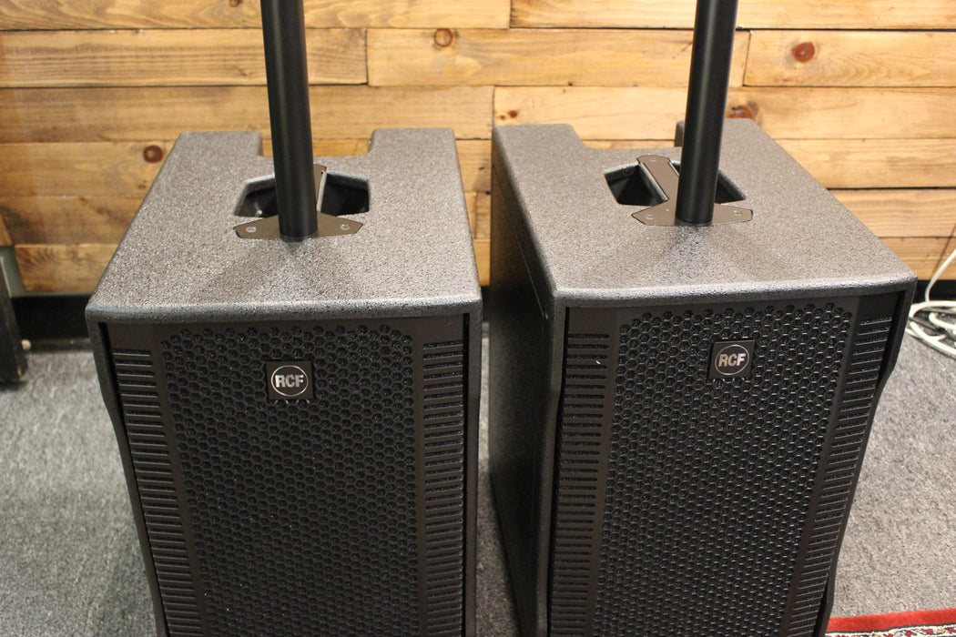 RCF Evox 8 Active Compact Portable 2 Way Personal Line Array PA System (2) with (2) speaker covers