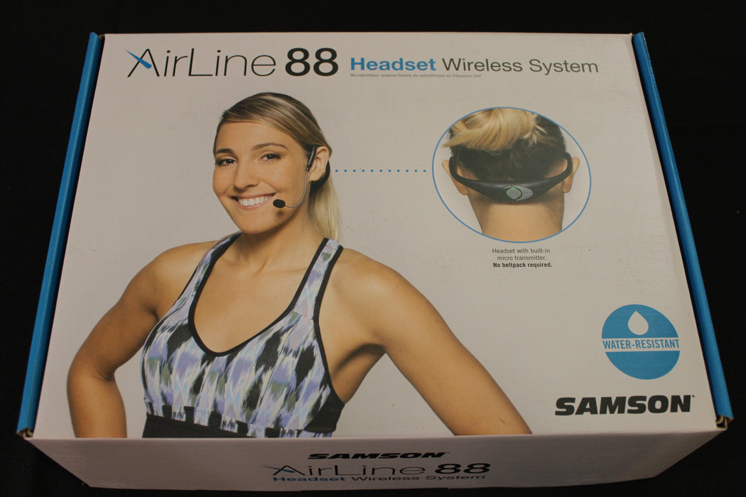 Samson AirLine 88 Wireless Headset System (D Band) with Unidirectional (542-566 MHz) Headset mic (CR88/AH8/UCM10)