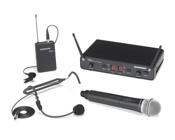 Samson Concert 288 All-In-One Dual-Channel Wireless Microphone System (H-Band, 470 to 518 MHz)