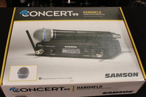 Samson Concert 99 Wireless Handheld System (D Band) (CR99/CH99) Q8 Dynamic Mic
