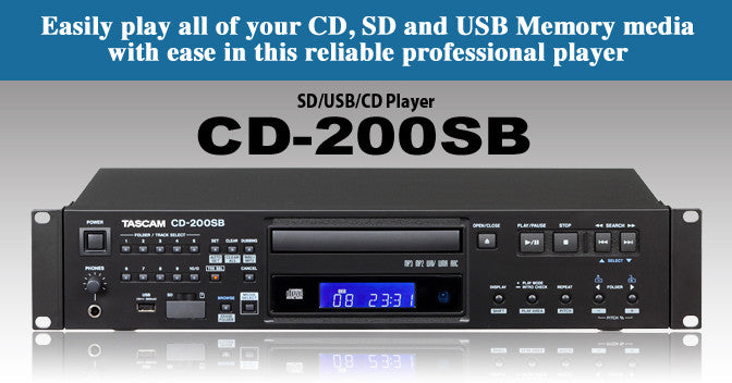 Tascam CD-200 Rack Mount CD/DVD Player
