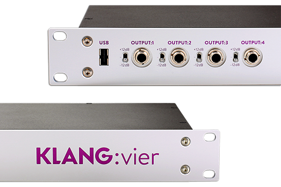 KLANG : vier (Dante Only) 3D Personal Monitor System (5 3D mixes x 24 Inputs - Fixed)