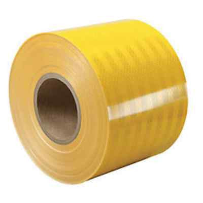 "3M Engineer Grade Prismatic Reflective Sheeting (3431) 24"" x 50 yards YELLOW"