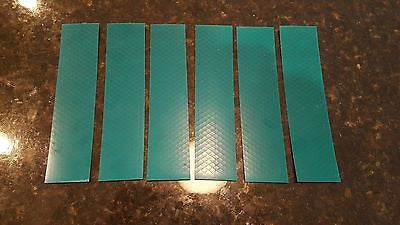 "3M 6 STRIPS 1.5"" x 8"" GREEN PRISMATIC REFLECTIVE CONSPICUITY TAPE"