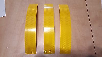 "3M 3 STRIPS 1.5"" x 8"" YELLOW PRISMATIC REFLECTIVE CONSPICUITY TAPE"