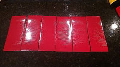 "3M Avery 6 Strips 3"" x 8"" RED HI INTENSITY REFLECTIVE CONSPICUITY TAPE - US Safety Supplies"