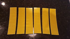 "3M 6 STRIPS 1.5"" x 9"" YELLOW PRISMATIC REFLECTIVE CONSPICUITY TAPE - US Safety Supplies"