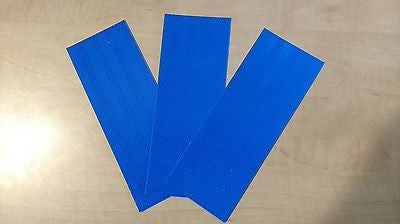 "3M Avery 3 Strips 3"" x 8"" BLUE REFLECTIVE PRISMATIC CONSPICUITY TAPE"