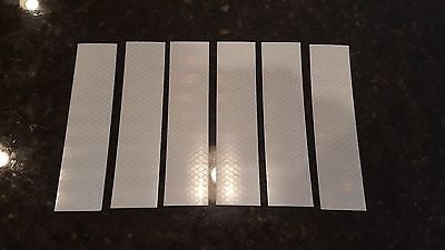 "3M 6 STRIPS 1.5"" x 8"" WHITE PRISMATIC REFLECTIVE CONSPICUITY TAPE"
