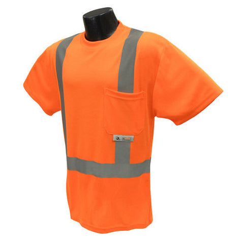 Radians ST11-2POS Orange Safety Class 2 Hi-Viz T-Shirts W/Maxi-Dri Wicking Mesh