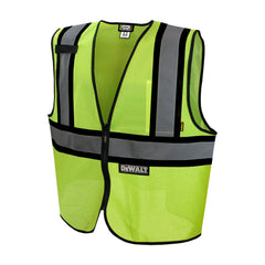 DEWALT DSV221 Contrasting Trim Class 2 Safety Vest ANSI / ISEA 107 HI VIS - US Safety Supplies
