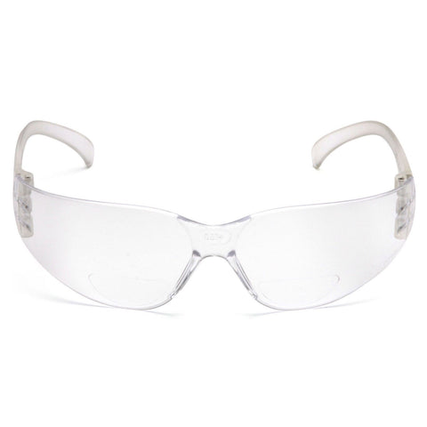 PYRAMEX SAFETY S4110R15/S4110R20 INTRUDER Readers Bifocal Safety Glasses Clear 1.5X/2.0X