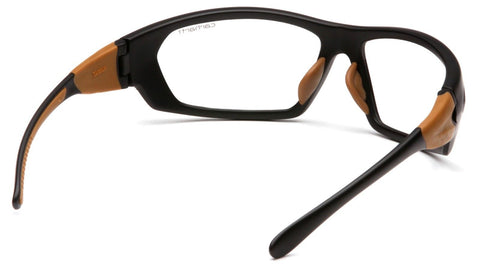 Carhartt Carbondale Safety Glasses Black Frames and Clear Lens CHB210D