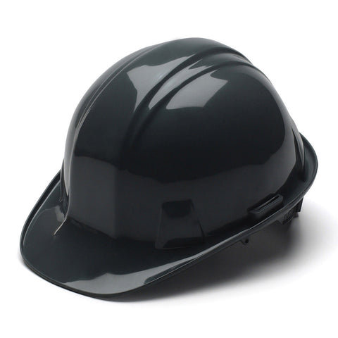 Pyramex Hard Hat BLACK CAP STYLE With 4 Point Ratchet Suspension, HP14111