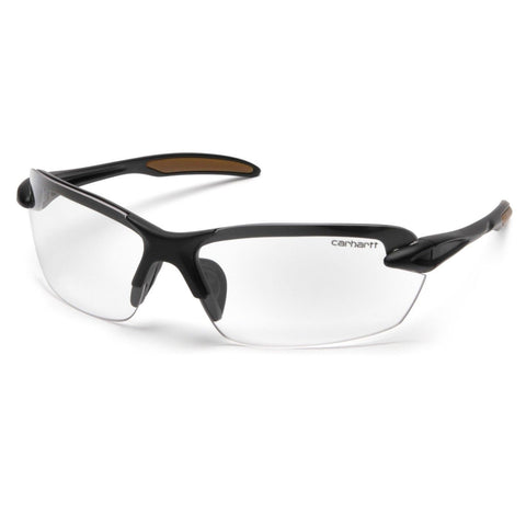 Carhartt Spokane Safety Glasses Black Frames and Clear Lens CHB310D