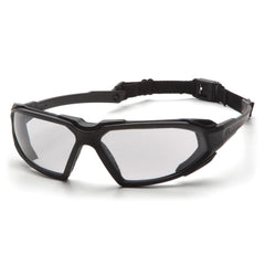 Pyramex Highlander Black Clear Anti Fog Safety Glasses Goggles SBB5010DT - US Safety Supplies