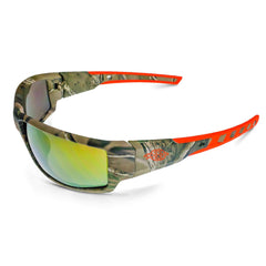 CROSSFIRE Cumulus Premium Safety Glasses Camo Frames Gold Mirror Lens 411432 - US Safety Supplies