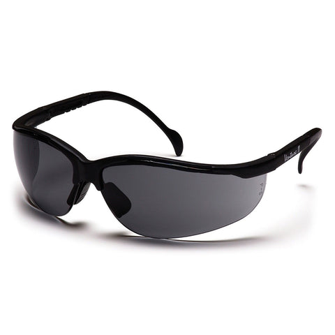 PYRAMEX SAFETY SB1820S Venture II Safety Glasses Gray Lens, Black Frame