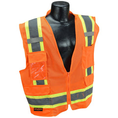RADIANS SV6-2ZOM SAFETY VEST - ANSI Two Tone Surveyor Class 2 Vest (ORANGE) - US Safety Supplies