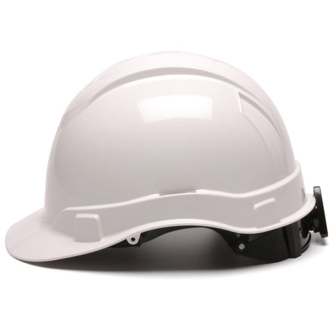 Pyramex Hard Hat Ridgeline WHITE CAP STYLE 4 Point Ratchet Suspension HP44110