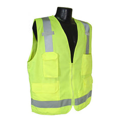 RADIANS SV7G SAFETY VEST - ANSI Green Surveyor Class 2 Safety Vest - US Safety Supplies