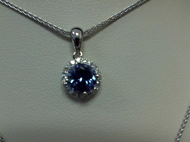 LADIES TANZANITE DIAMOND PENDANT