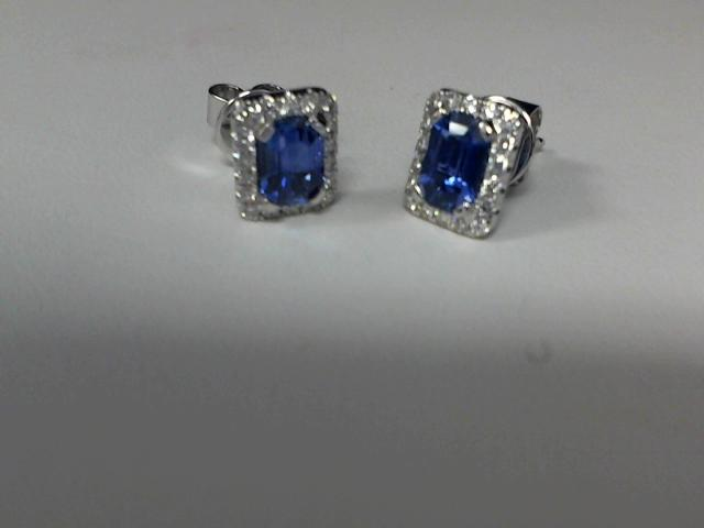 LADIES DIAMOND & SAPPHIRE EARRINGS