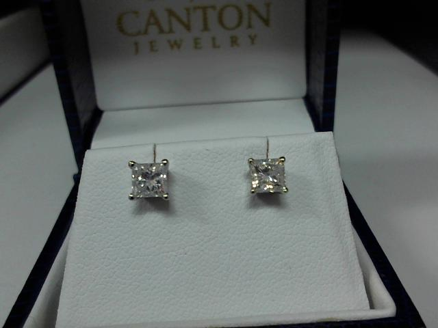 LADIES DIAMOND PRINCES CUT  EARRING