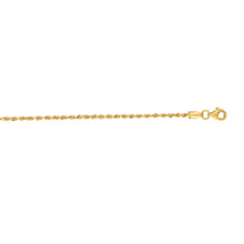 Load image into Gallery viewer, 10K Gold 2.0mm Solid Diamond Cut Royal Rope Chain