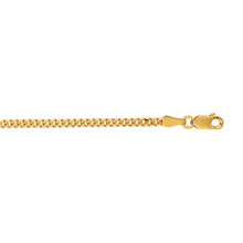 Load image into Gallery viewer, 10K Gold 2.0mm Gourmette Chain