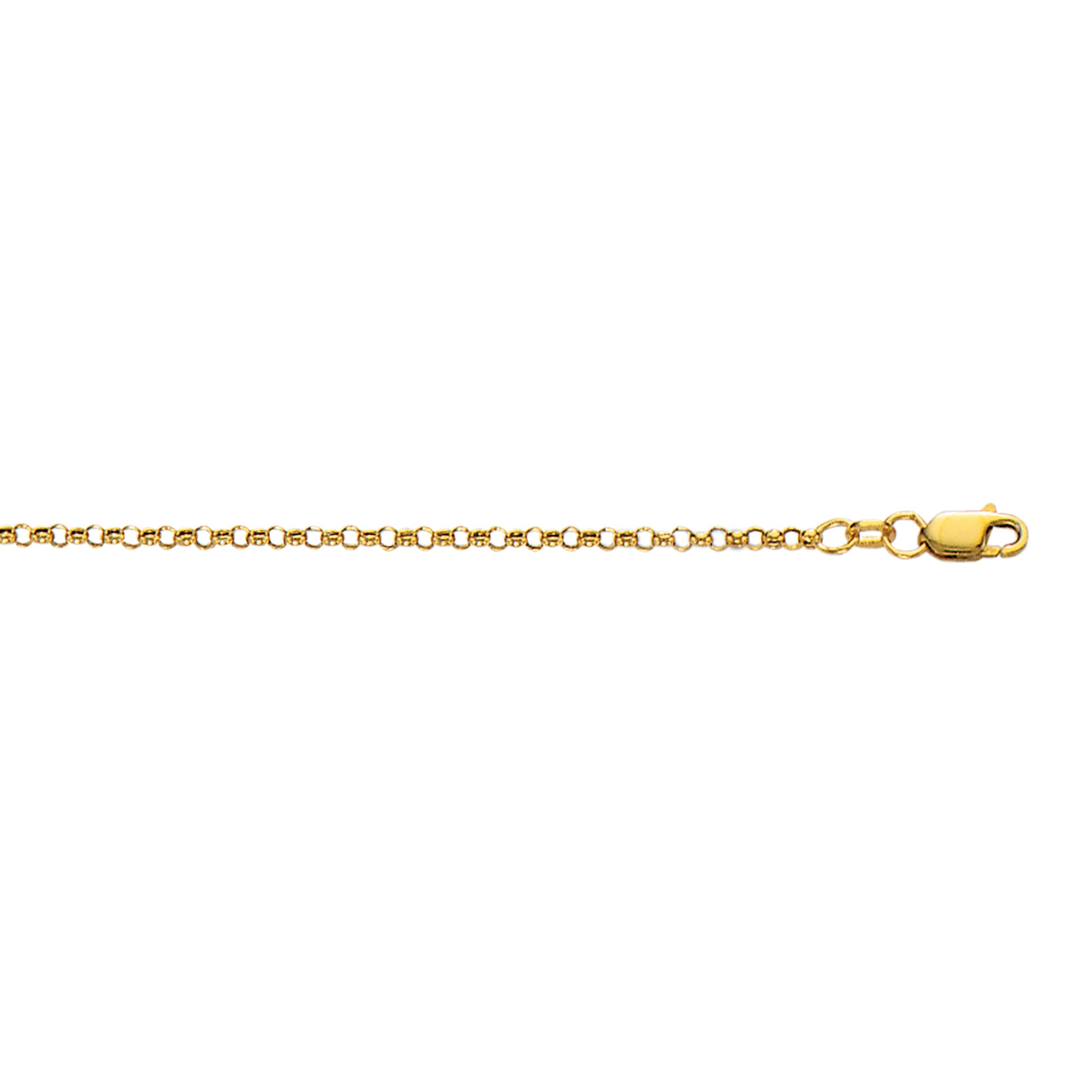 10K Gold 2.3mm Lite Rolo Chain