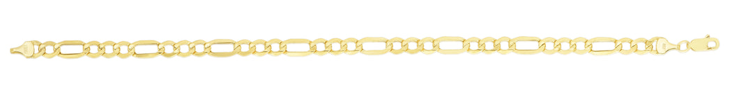 10K Gold 5.4mm Lite Figaro Chain