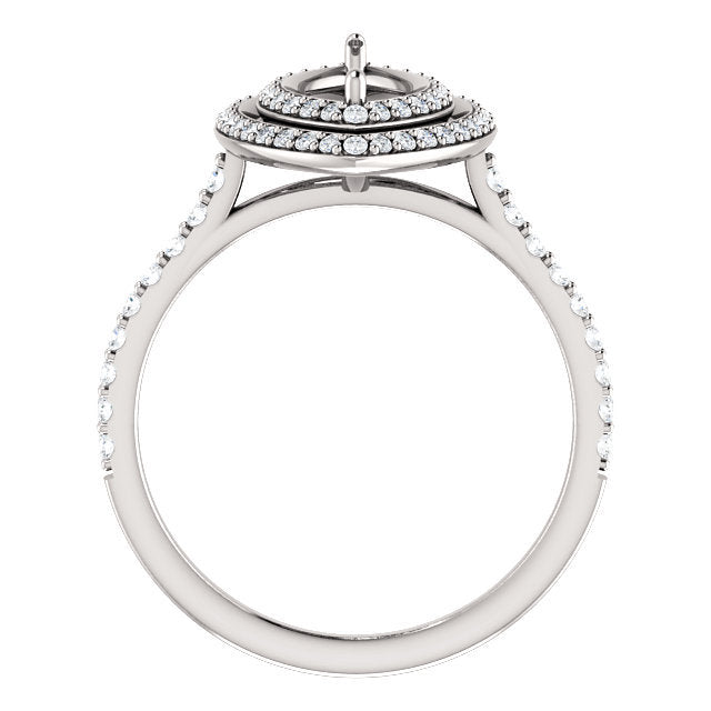 14K White 10x5 mm Marquise 1/2 CTW Diamond Semi-Set Engagement Ring* Quote does not include cost of center stone. *Prices are based on a standard melee diamond quality SI2-SI3, G-H. Exact pricing may be subject to change based on size, please contact
