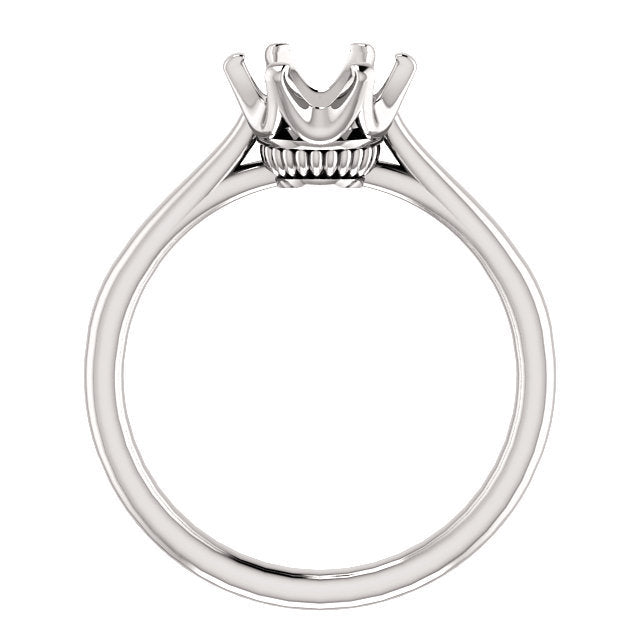 14K White 7.4 mm Round Engagement Ring Mounting* Quote does not include cost of center stone. *Prices are based on a standard melee diamond quality SI2-SI3, G-H. Exact pricing may be subject to change based on size, please contact an Ever&Ever retail
