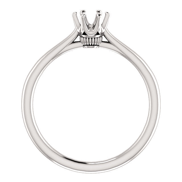 14K White 4.8 mm Round Engagement Ring Mounting* Quote does not include cost of center stone. *Prices are based on a standard melee diamond quality SI2-SI3, G-H. Exact pricing may be subject to change based on size, please contact an Ever&Ever retail