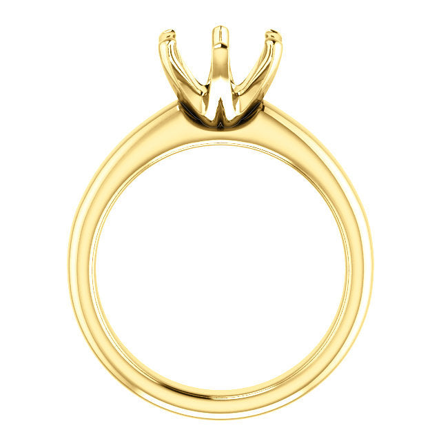 14K Yellow 8.2 mm Round Engagement Ring Mounting* Quote does not include cost of center stone. *Prices are based on a standard melee diamond quality SI2-SI3, G-H. Exact pricing may be subject to change based on size, please contact an Ever&Ever retai